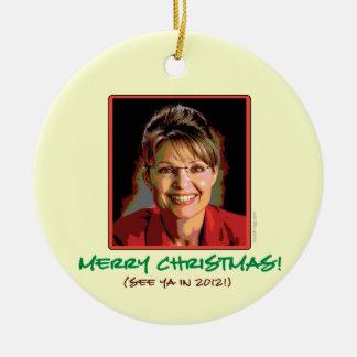 Sarah Palin Christmas Ornament