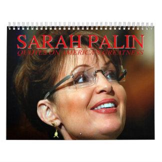 Sarah Palin cita el calendario de pared