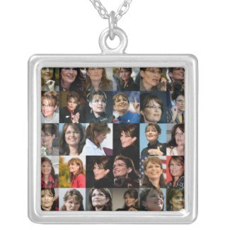 Sarah Palin Collage Necklace necklace
