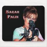 Sarah Palin con el rifle Alfombrilla De Raton