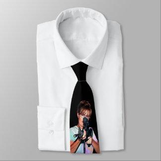 Sarah Palin con el rifle Corbata