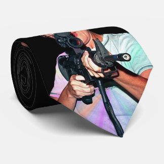 Sarah Palin con el rifle Corbata Personalizada