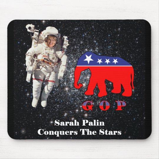 Sarah Palin Conquers The Stars Mouse Pad