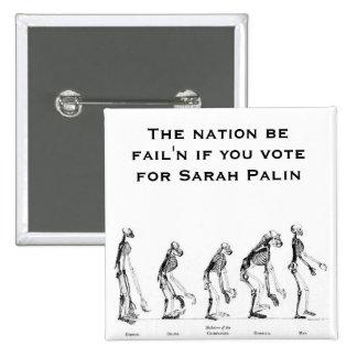 Sarah Palin- Creationist Buttons