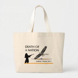 Sarah Palin - Death of a Nation Large Tote Bag