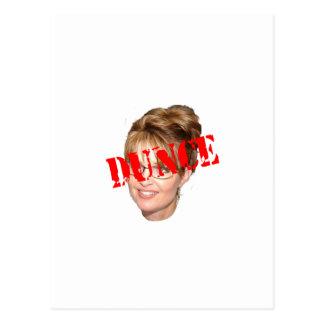 Sarah Palin Dunce Postcard