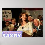 Sarah Palin en el poster de la reunión de Póster