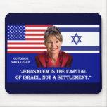 Sarah Palin en Jerusalén Tapete De Ratones