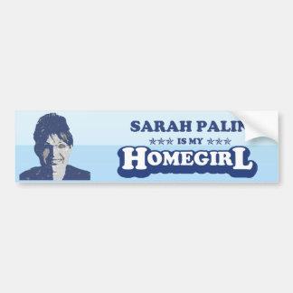 SARAH PALIN ES MI HOMEGIRL ETIQUETA DE PARACHOQUE