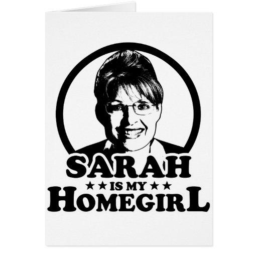 Sarah Palin es mi Homegirl Felicitación