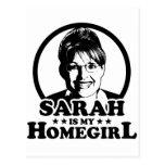 Sarah Palin es mi Homegirl Tarjetas Postales
