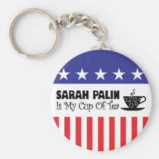 Sarah Palin es mi taza de té Llavero Redondo Tipo Pin