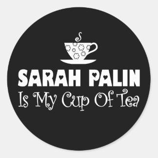Sarah Palin es mi taza de té Etiqueta Redonda