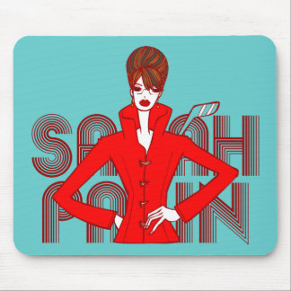 Sarah Palin Fashion Style Doodle Art Mousepad