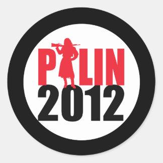 Sarah Palin Firearms 2012 Round Stickers