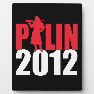 Sarah Palin Firearms white Photo Plaque
