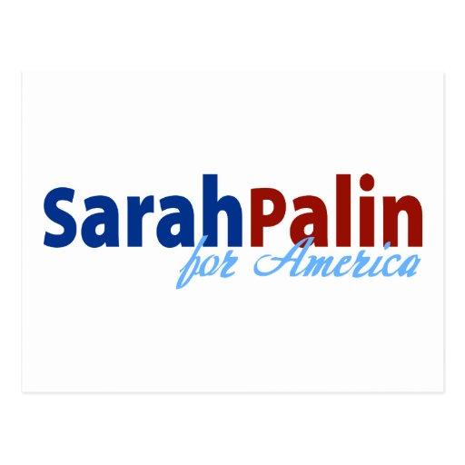 Sarah Palin for America Post Card