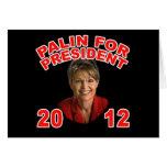 Sarah Palin for President 2012 Card