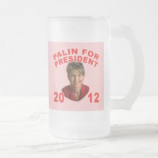 Sarah Palin for President 2012 16 Oz Frosted Glass Beer Mug