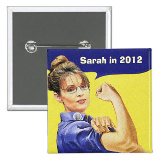 SARAH PALIN FOR PRESIDENT 2012 PINBACK BUTTON