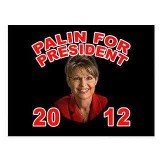 Sarah Palin for President 2012 Postcard