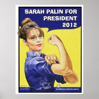SARAH PALIN FOR PRESIDENT 2012 POSTER