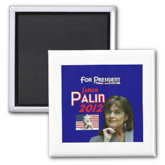 Sarah Palin for President 2 Inch Square Magnet