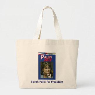 Sarah Palin for President Large Tote Bag