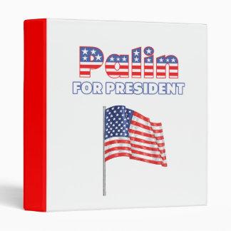 Sarah Palin for President Patriotic American Flag Binder