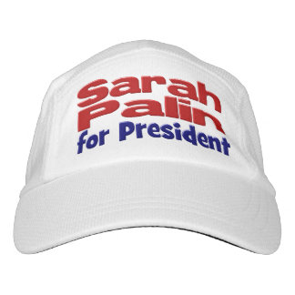 Sarah Palin for President Performance Hat,red&blue Hat