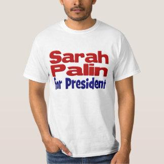 Sarah Palin for President Shirt, red & blue T-shirt