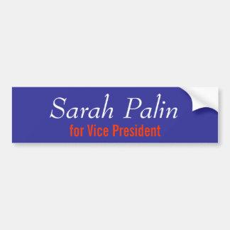 Sarah Palin for Vice President Car Bumper Sticker
