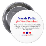 Sarah Palin for Vice President Pins