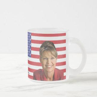 Sarah Palin Frosted Glass Coffee Mug