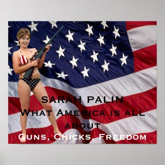 bikini Sarah palin poster rifle