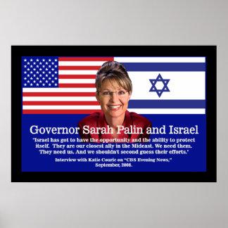 Sarah Palin habla sobre Israel Posters