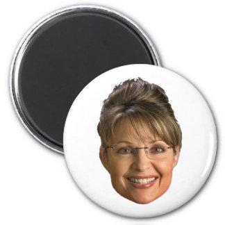 sarah palin head 2 inch round magnet
