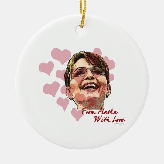 Sarah Palin Hearts Ornament