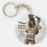 Sarah Palin - Hockey Mom I'd Like To Puck Keychain