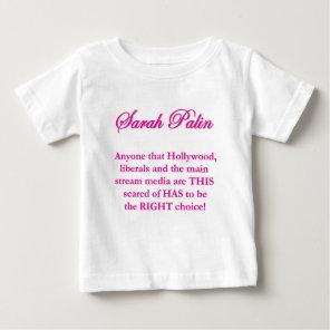 Sarah Palin - Hollywood Liberals & the MSM Baby T-Shirt