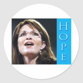 Sarah Palin Hope Classic Round Sticker