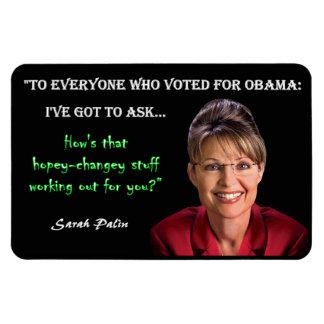 Sarah Palin - Hopey Changey Magnet