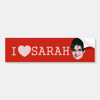 Sarah Palin, I Heart!! Bumper Sticker