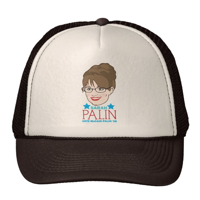 Sarah Palin Illustrated Hat