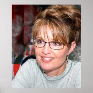 Sarah Palin in Kuwait Poster print