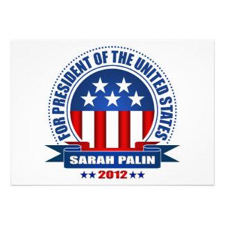 Sarah Palin Custom Announcements