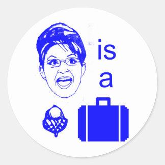 Sarah Palin is a Nut Case Round Stickers