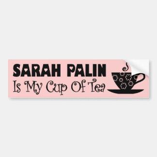 Sarah Palin Is My Cup Of Tea Bumper Sticker