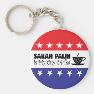 Sarah Palin Is My Cup Of Tea Keychain