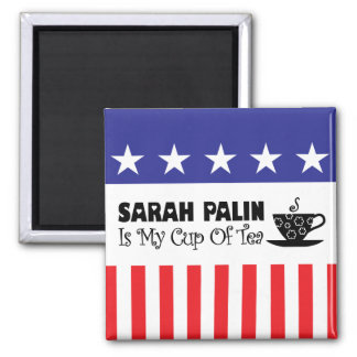 Sarah Palin Is My Cup Of Tea Refrigerator Magnets
